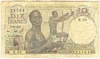 [French West Africa 10 Francs Pick:P-37]