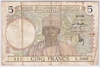 [French West Africa 5 Francs Pick:P-21]