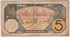 [French West Africa 5 Francs Pick:P-5Be]